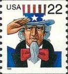 [Uncle Sam - Coil Stamp, type DHM]