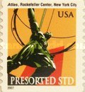 [Atlas, Rockefeller Center - Self-Adhesive Coil Stamp (10 cents), Typ DQD1]