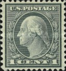 [George Washington - Coil Waste. Size: 19½-20 x 22mm, Typ DW152]