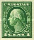 [George Washington - Imperforated, type DW50]
