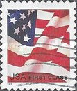 [U.S. Flag - First-Class for Domestic Use (37 cents) - Self-Adhesive, Typ ECT1]