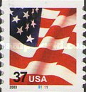 [U.S. Flag - Self-Adhesive Coil Stamp, Typ ECT13]