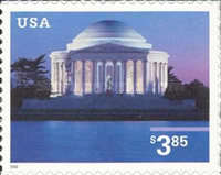 [Jefferson Memorial Priority Mail - Self-Adhesive, Typ EED]