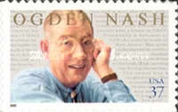 [The 100th Anniversary of the Birth of Ogden Nash - Self-Adhesive, Typ EEN]