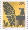 [American Eagle - Self-Adhesive Coil Stamps - Inscription