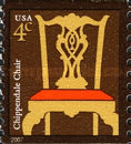 [American Design - Chippendale Chair - Self-Adhesive Coil Stamp, Typ ELK1]