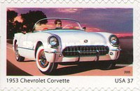 [America on the Move - Sports cars of the 1950's - Self-Adhesive, Typ ERB]