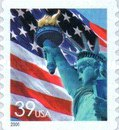 [Lady Liberty Flag - Self-Adhesive Coil Stamp, Typ ESY10]
