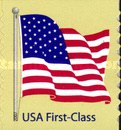 [American Flag - Self-Adhesive Coil Stamp - Right Angle Corners, Typ FBK3]