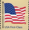 [American Flag - Self-Adhesive Coil Stamp, Typ FBK4]
