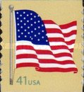 [American Flag - Self-Adhesive Coil Stamp, Typ FBK7]