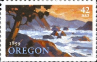 [The 150th Anniversary of Oregon Statehood - Self-Adhesive Stamp, type FMO]