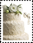 [Greeting Stamp - Wedding Cake -