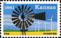 [The 150th Anniversary of Kansas Statehood - Self-Adhesive (44 cents), Typ FTH]