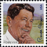 [The 100th Anniversary of the Birth of Ronald Reagan, 1911-2004 - Self-Adhesive (44 cents), Typ FTI]