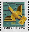 [Art Deco Bird - Self-Adhesive Stamp (5 cents), Typ FTJ]