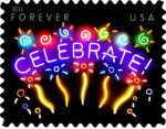 [Celebrate Greeting Stamp - Self Adhesive (44 cents), Typ FTR]