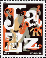 [Jazz - Self-Adhesive Stamp (44 cents), Typ FTS]