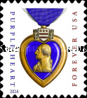 [Purple Heart - Year 2014 on Stamp, Typ FVA2]