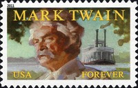 [Mark Twain, 1835-1910 - Self-Adhesive (44 cents), Typ FVQ]