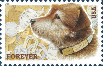 [Dogs - Owney, Mascot of the Railway. Self-Adhesive Stamp (44 cents), Typ FWD]