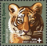 [Endangered Species - Tiger. Self-Adhesive Stamp, Typ FXA]