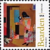 [The 100th Anniversary of the Birth of Fred Romare Harry Bearden, 1911-1988 - Self-Adhesive Stamps (44 cents), Typ FXE]
