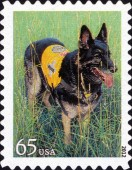 [Dogs at Work - Self-Adhesive Stamps, Typ FYJ]