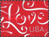 [Greeting Stamp, Love - Self-Adhesive (45 cents), Typ FYS]
