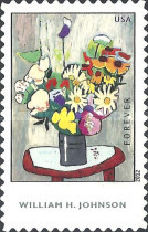 [Paintings - Flowers by William H. Johnson, 1901-1970 - Self Adhesive Stamp (45 cents), Typ FZD]