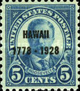 [The 150th Anniversary of the Discovery of Hawaii by Captain Cook, Typ GJ]