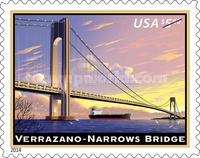 [Priority Mail - The 50th Anniversary of the Verrazano Narrows Bridge, Typ GLO]