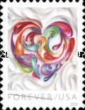 [Love Stamp - Quilled Paper Heart, Typ GQB]