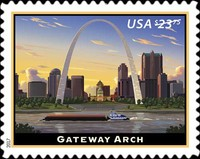 [Priority Mail Express - Gateway Arch, St. Louis, Missouri, Typ GVG]