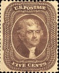 [Thomas Jefferson, 1743-1826 - Prejections at Top and Bottom Cut away, type H1]