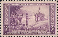 [The 300th Anniversary of the Arrival of French Explorer Jean Nicolet at Green Bay, Wisconsin, type IY]