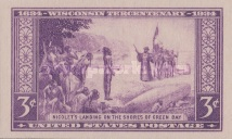 [The 300th Anniversary of the Arrival of French Explorer Jean Nicolet at Green Bay, Wisconsin, type IY1]