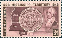 [The 150th Anniversary of the Mississippi Territory, Typ PT]