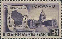 [The 100th Anniversary of Wisconsin Statehood, type PV]