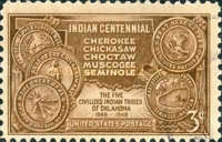 [The 100th Anniversary of Arrival in the Indian Territory, Typ QK]