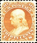 [Re-Issue of 1861-1866 Issues - Hard White Paper. White Crackly Gum, Typ R3]