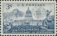 [The 75th Anniversary of Colorado Statehood, Typ RN]