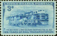 [The 125th Anniversary of Baltimore & Ohio Railroad Charter, type RS]