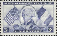 [The 175th Anniversary of the Arrival of Marquis de Lafayette, Typ RW]