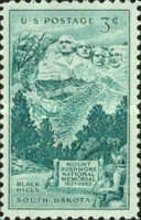 [The 25th Anniversary of the Mount Rushmore Memorial, type RX]