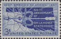 [The 50th Anniversary of Oklahoma Statehood, type UX]