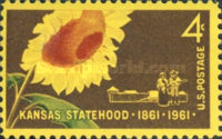 [The 100th anniversary of Kansas Statehood, Typ YH]