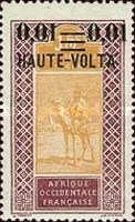 """[Upper Senegal and Niger Postage Stamps Overprinted """"HAUTE-VOLTA"""" and Surcharged, type A27]"""
