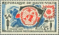 [The 1st World Meteorological Day, type AC]