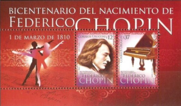 [The 200th Anniversary of the Birth of F. Chopin, 1810-1849, type ]